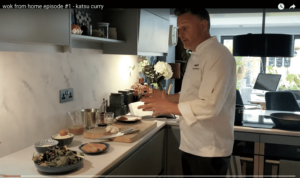Wagamama Exec Chef Steve Mangleshot showing how to make chicken katsu curry