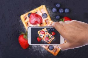Image of Waffles with Phone