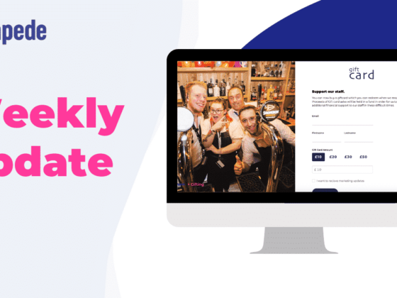 Weekly update from Stampede featuring Gift Cards and Marketing