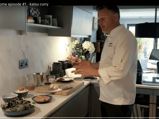Wagamama Exec Chef Steve Mangleshot showing how to make chicken katsu curry