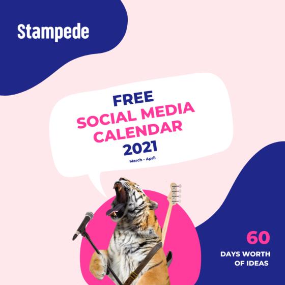 March-April Social Media Calendar square