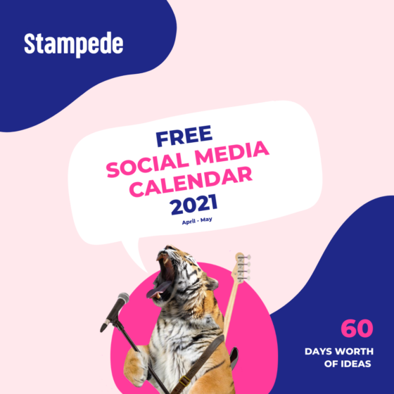 April - May Social Media Calendar square