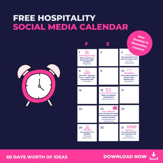 october and november social media calendar