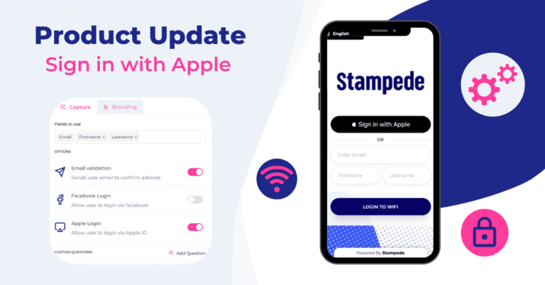 Apple ID login now available for Stampede Guest Wifi Solution